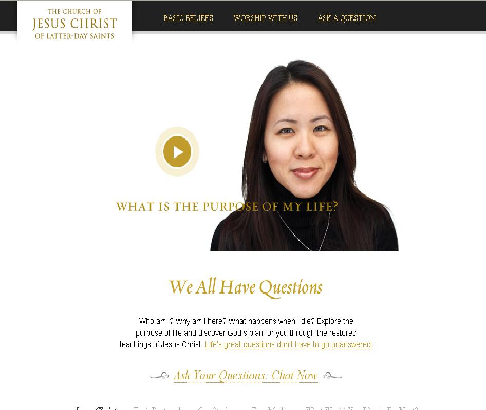mormon.org Screenshot